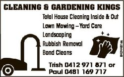 6424461aa CLEANING & GARDENING KINGS Total House Cleaning Inside & Out Lawn Mowing - Yard Ca...