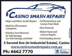 6274524aa * Major and Minor Smash Repairs * Full Restorations and Custom Paint Work * Work for all I...