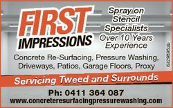 Concrete Re-Surfacing, Pressure Washing, Driveways, Patios, Garage Floors, Proxy Servicing Tweed and...