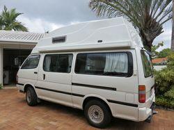 TOYOTA Hiace campervan, diesel, auto, 4x4, 118K, 12V/240/gas, 46L fridge, shower, portaloo, UHF r...