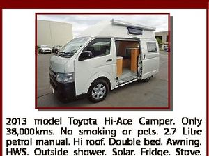 ONE OWNER HI-ACE CAMPER