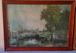 """The Hay-Wain"" ""Water Meadows"" ""Mill of Dedham"". All framed Sell sep or 3 for"