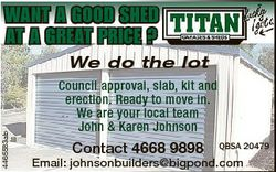 WANT A GOOD SHED AT A GREAT PRICE ? 4465583ab We do the lot Council approval, slab, kit and erection...