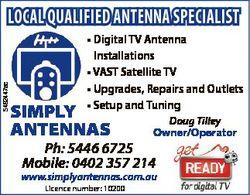 5492447ac LOCAL QUALIFIED ANTENNA SPECIALIST * Digital TV Antenna Installations * VAST Satellite TV...
