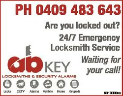PH 0409 483 643 Are you locked out? 24/7 Emergency Locksmith Service Waiting for your call! 6310066a...