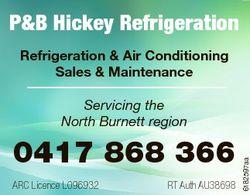P&B Hickey Refrigeration Refrigeration & Air Conditioning Sales & Maintenance 0417 868 3...