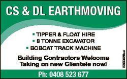 * TIPPER & FLOAT HIRE * 8 TONNE EXCAVATOR * BOBCAT TRACK MACHINE Building Contractors Welcome Ta...