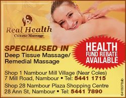 HEALTH FUND REBATE AVAILABLE Shop 1 Nambour Mill Village (Near Coles) 7 Mill Road, Nambour * Tel: 54...
