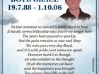 Bo Boyd Grace 19.7..88 - 1.10.06 6444700ab To lose someone so special is really hard to bear It hardly seems believable that you're no longer here Ten years have passed so quickly, but the pain remains so raw and deep We miss you every day Boyd ...