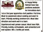 6446323aa Granite Belt Brewery at Happy Valley Retreat have two positions available for immediate start. 1st or 2nd year apprentice chef position. Full time. Must be passionate about cooking and want to learn. Friendly working environment. Must take direction and work well in a team. Experienced wait person casual. Must ...