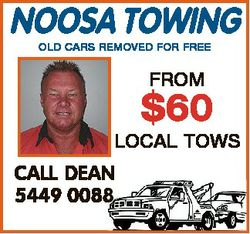 NOOSA TOWING OLD CARS REMOVED FOR FREE FROM $60 LOCAL TOWS CALL DEAN 5449 0088