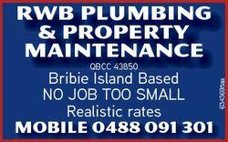 RWB Plumbing & Property Maintenance Mobile 0488 091 301 6343695aa QBCC 43850 Bribie Island Based...