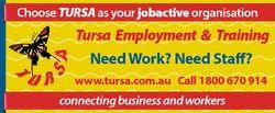 Choose TURSA as your jobactive organisation Tursa Employment & Training Need Work? Need Staff? w...