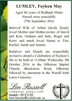 LUMLEY, Fayleen May Aged 80 years of Redbank Plains Passed away peacefully 27th September 2016 Belov...