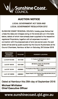 AUCTION NOTICE LOCAL GOVERNMENT ACT 2009 AND LOCAL GOVERNMENT REGULATION 2012 SUNSHINE COAST REGIONA...