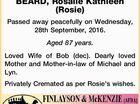 BEARD, Rosalie Kathleen (Rosie)