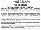 APPROVED INSPECTION PROGRAM ANIMAL MANAGEMENT