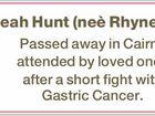 Leah Hunt (neè Rhynehart)