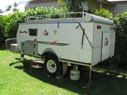 CUB Spacevan camper trailer, slide out kit, 4 burn stove, 3 way fridge, 140 water, dbl bed, stora...