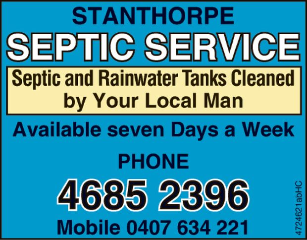 Septic and Rainwater Tanks