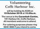 Volunteering Coffs Harbour Inc.