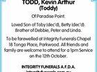 TODD, Kevin Arthur (Toddy)