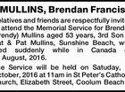 MULLINS, Brendan Francis