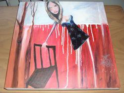 by artist Jenny Mallay.  size 46cm x 46cm x 4cm  on canvas online pics $80 PH0407193504