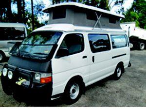 Toyota Hiace Poptop camper.