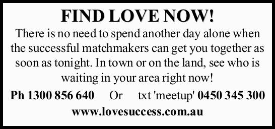 FIND LOVE NOW! There is no need to spend another day alone when the successful matchmakers can ge...