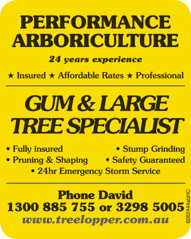 PERFORMANCE ARBORICULTURE   24 Years Experience   Insured | Affordable Rates | Profession...