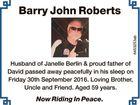 Barry John Roberts