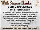 BERYL JOYCE REED
