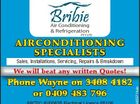 BRIBIE AIR CONDITIONING & REFRIGERATION PTY LTD