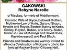 GAKOWSKI Robyne Narelle