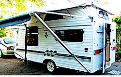 2005 poptop Cruisader, 15ft long, 7ft wide, dbl island bed, solar, 3way fridge, 260/12V TV, radio...
