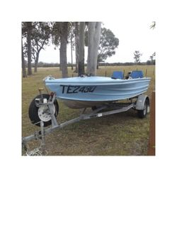 Quintex  4.3m with 18hp Tohatsu , complete with forward steering, lights, motor recently serviced, t...