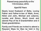 "DAUNT, Stanley Francis ""Stan"""