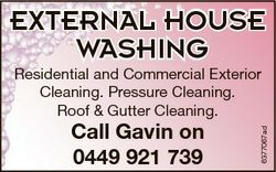 EXTERNAL HOUSE WASHING Call Gavin on 0449 921 739 6377067ad Residential and Commercial Exterior Clea...
