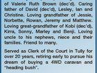 BROWN, Donald Fraser `Don' 6th October 2016. Beloved son of Robert Leslie Brown (dec'd) and Magdalene Patricia Adams (Needham) (dec'd). Beloved brother of Leslie Phillip (dec'd) and Shirley Ann (dec'd). Loving husband of Valerie Ruth Brown (dec'd). Caring father of David (dec'd), Lesley, Ian ...