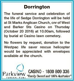 Dorrington The funeral service and celebration of the life of Sedge Dorrington will be held at St Ma...