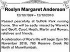 Roslyn Margaret Anderson