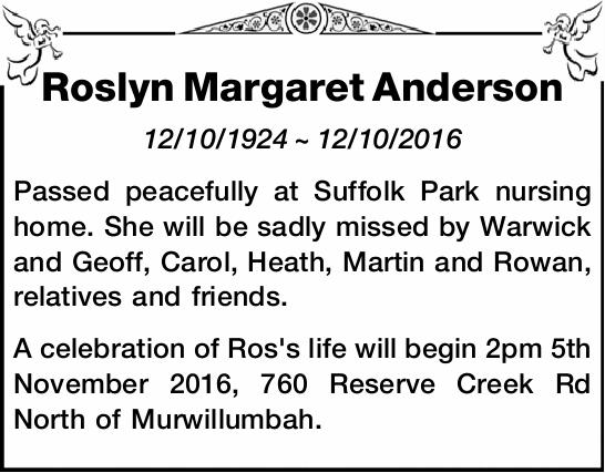 12/10/1924 ~ 12/10/2016