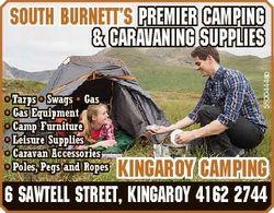 * Tarps * Swags * Gas * Gas Equipment * Camp Furniture * Leisure Supplies * Caravan Accessories * Po...