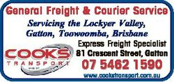 General Freight & Courier Service Servicing the Lockyer Valley, Gatton, Toowoomba, Brisbane Expr...