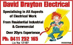 David Drayton Electrical Specialising in All Aspects of Electrical Work From Residential Industrial...