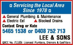 Servicing the Local Area Since 1978  General Plumbing & Maintenance  Electric Eel  Blocked Drain...