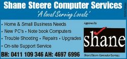 `A local Serving Locals' * Home & Small Business Needs * New PC's * Note book Computers...