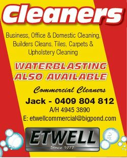 Business, Office & Domestic Cleaning, Builders Cleans, Tiles, Carpets & Upholstery Cleaning...