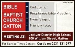 BIBLE BAPTIST CHURCH GATTON 6185165aa God Loving King James Bible Preaching Hymn Singing Friendly Fa...